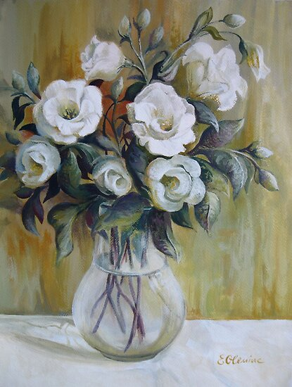 White flowers by Elena Oleniuc