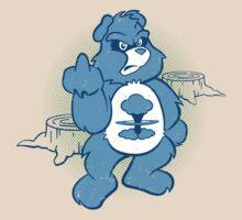 Don't Care Bear (blue) T-Shirt