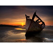 Wreck at Sunset • Bunbeg, Co Donegal Photographic Print