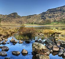 Blea Tarn..Low Water by Jamie  Green