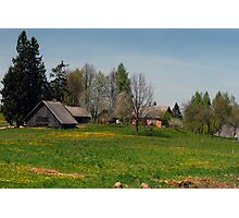 Spring in old farmstead (Yellow house) Photographic Print