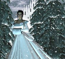 Circe Nymph Snow Queen Card by Rivendell
