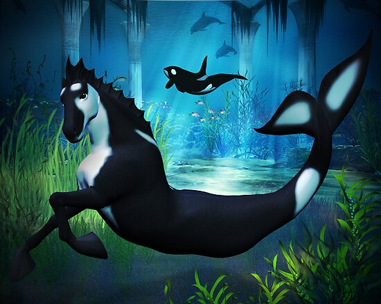 Killer Whale Sea Horse by Rivendell