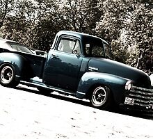 blue Chevy Pickup by ARTistCyberello