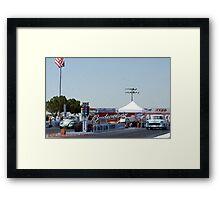 """Old School""; Fomoso Raceway, McFarland, CA Summit Series Racing Framed Print"