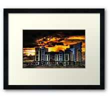 Sunset Storm Framed Print