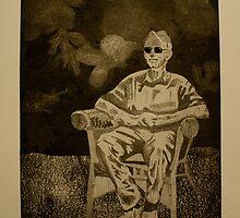 Papa- Intaglio Print by Amanda Heigel