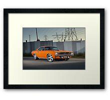 Orange 1970 Plymouth Barracuda Framed Print