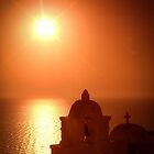 Sunset on Oia - Oia, Santorini by George Moolman