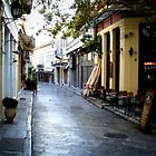 Quite Street - Plaka in Athens by George Moolman