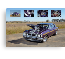Supercharged 1970 Wild Violet Ford Falcon XY Canvas Print