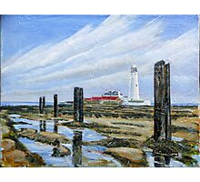 Rock Pools @ St Mary's light house  Photographic Print