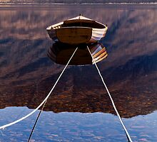 Loch Maree Rowing Boat Reflections by Bill Buchan