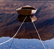 Loch Maree Rowing Boat Reflections by Bill Buchan