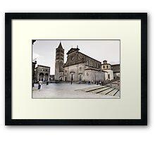 Cattedrale del Palazzo Dei Papi, Viterbo Framed Print