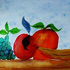Table of Fruit #2 series, watercolor by Anna  Lewis