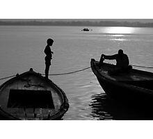 Boy on the Ganga Photographic Print