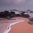 Fidra Coast and Lighthouse, by KWTImages