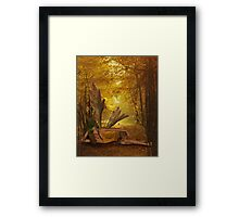 A Fae of Gold Framed Print