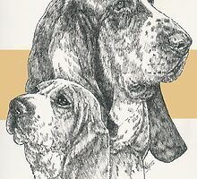Basset Hound, Father & Son  by BarbBarcikKeith
