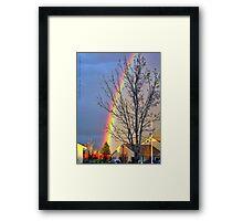 Crowning Spring Sunset Framed Print
