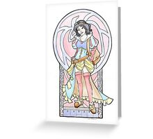 Steampunk Snow White Greeting Card