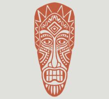 Tiki Mask - Orange by Artberry