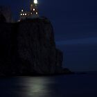 Split Rock at Night by Aaron Bottjen