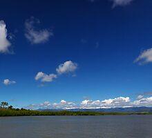 Blue Cloudy Sky Panorama by 104paul
