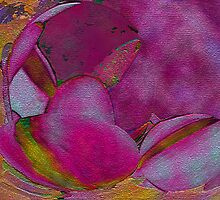 Pink Texture- Abstract Digital art  by kreativekate