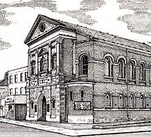 164 - CENTRAL METHODIST CHURCH, BLYTH - DAVE EDWARDS - INK - 1988 by BLYTHART