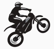 Motocross t-shirt (Plain black logo) by Spartiatis75