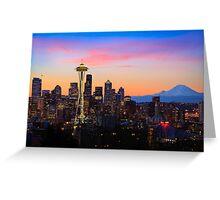 Seattle Dawn Greeting Card