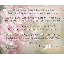 To my new bride on our wedding day Photographic Print