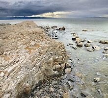 Rocky Shoreline, Great Salt Lake by Ryan Houston