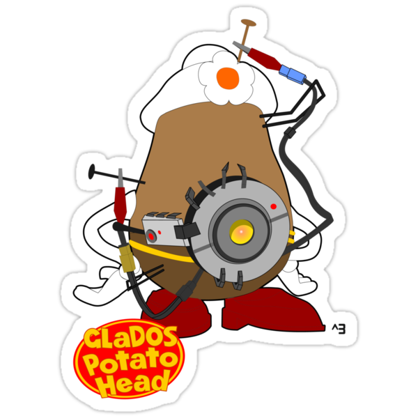 GLaDOS Potato Head by cubik