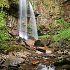 Melincourt Falls, Resolven, Wales by Giles Clare
