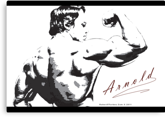 Arnold Schwarzenegger - Rear Bicep Shot by celebrityart