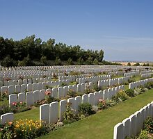 French war cemetery by Keith Larby