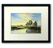 When Sun is Setting Framed Print