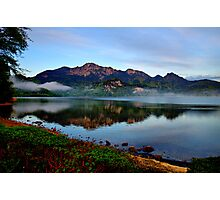 Mountain and Lake in the Morning Photographic Print