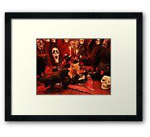 Di Milo ~ The Scream ~ Gothic Kitty Cat Kitten in Halloween Horror House Framed Print