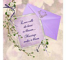 Wedding Blossoms Photographic Print