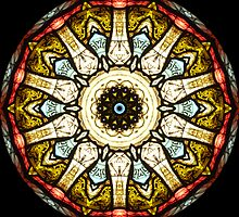 Stained Glass Church Window Kaleidoscope by fantasytripp