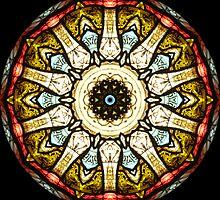 Stained Glass Church Window Kaleidoscope by fantasytripp