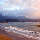 Hanalei Pier at Sunset by tirrera