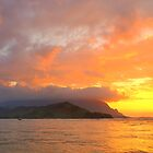 Hanalei Bay Sunset by tirrera
