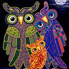 &#x27;Owl I Want Is You&#x27; - the cutest owl family ever! by Lisa Frances Judd ~ Original Australian Art