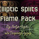 Elliptic Splits Flame Pack Cover by Jaclyn Hughes