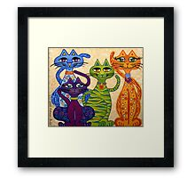 'High Street Cats' - their kind of posh! Framed Print